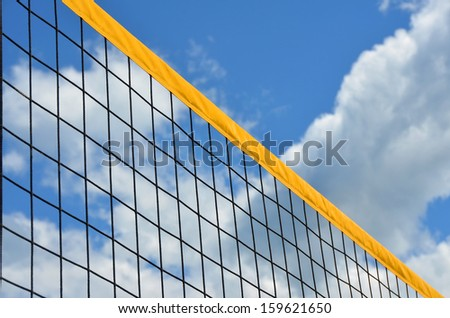 volleyball net - stock photo