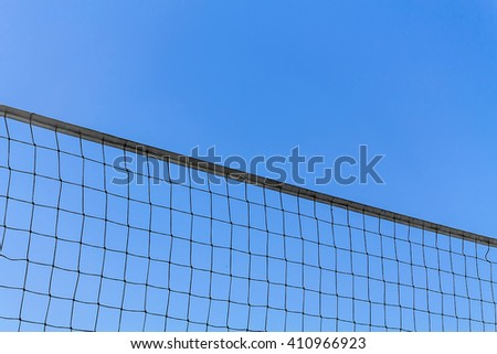 volleyball net on sky background
