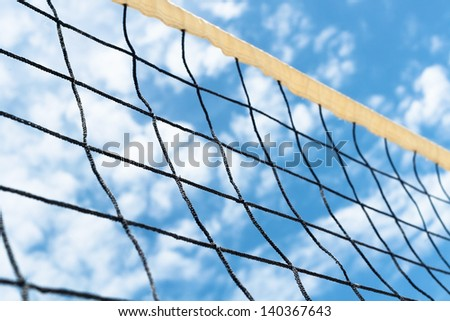 volleyball net sky clouds outdoors