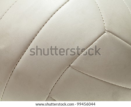 Volleyball on court - stock photo
