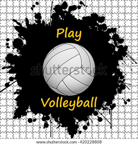 Volleyball-sport-background - stock photo