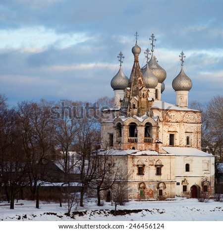 Vologda, Russia. Church of St. John Chrysostom. The churh was built in XVII century - stock photo