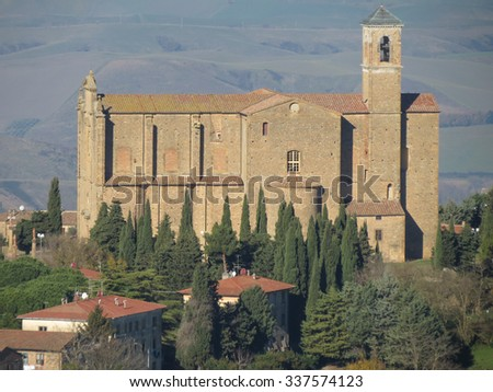 Volterra, Italian medieval town - view of the city centre