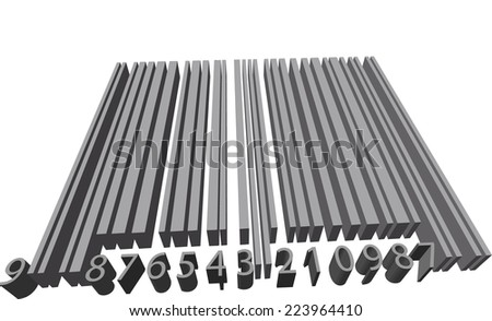 Volume barcode - stock photo