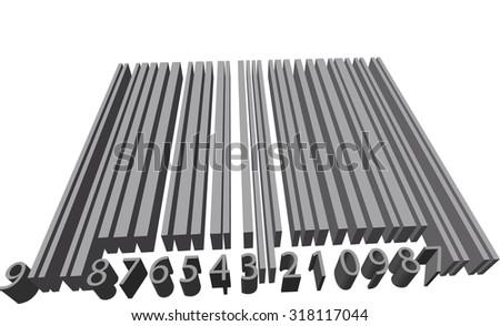 Volume barcode - stock photo