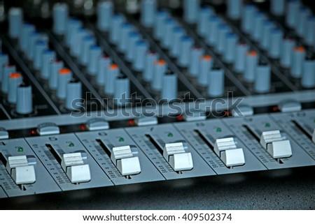 Volume control panel  - stock photo
