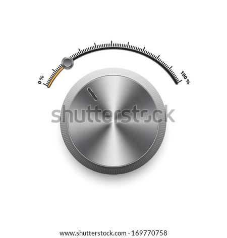 Volume control panel. Raster version - stock photo