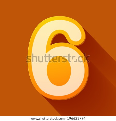 Volume icons number: six . Colorful modern Style. - stock photo