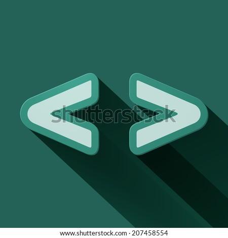 Volume icons symbol: Brackets . Colorful modern Style. - stock photo