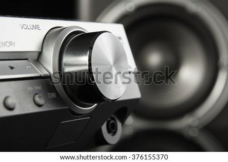 Volume knob - stock photo