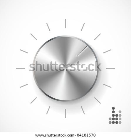 Volume knob (raster) - stock photo