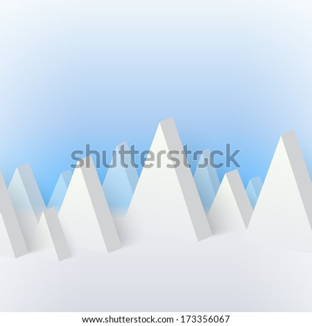 Volumetric snowy mountains