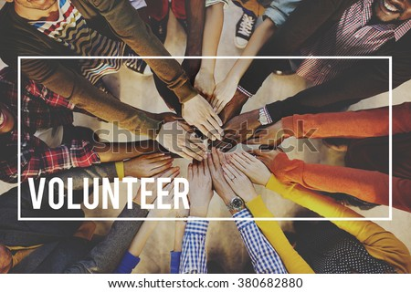 Volunteer Voluntary Volunteering Aid Assisstant Concept - stock photo