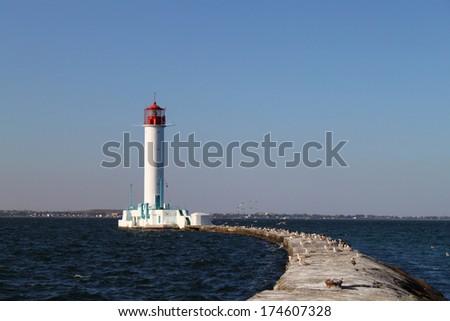 vorontsovsky beacon, Odessa - stock photo