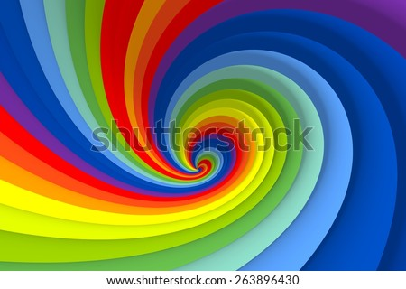vortex  twist  color swirl background  3d illustration