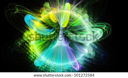 Vortices of energy magnetic field. 3D surreal illustration. Sacred geometry. Mysterious psychedelic relaxation pattern. Fractal abstract texture. Digital artwork graphic astrology magic