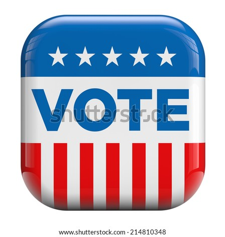 Vote American flag isolated icon. - stock photo