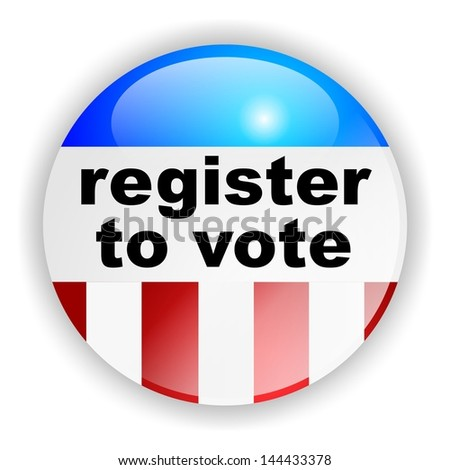 vote badge, register to vote - stock photo