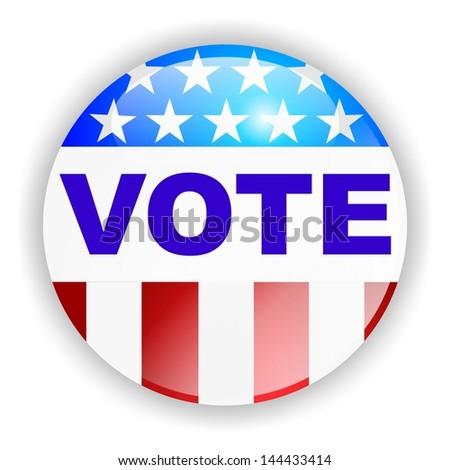 vote badge, VOTE - stock photo