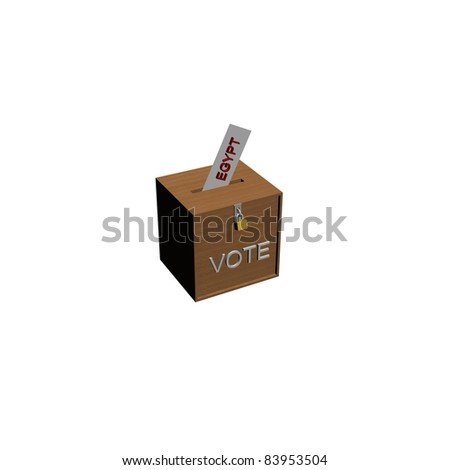 vote box with envelope in egypt - stock photo