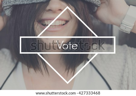 Vote Election Political Poll Voter Voting Campaign Concept - stock photo