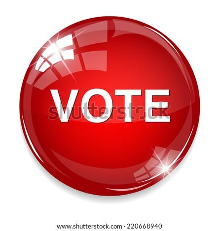 vote icon - stock photo