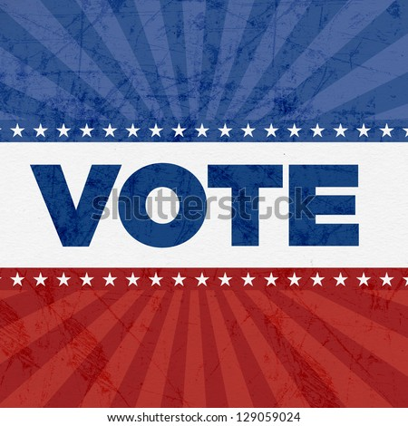 Vote Patriotic Eleement - stock photo