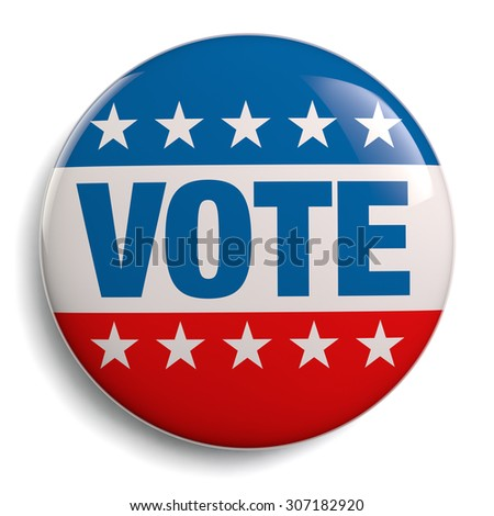Vote USA American election stock image isolated.