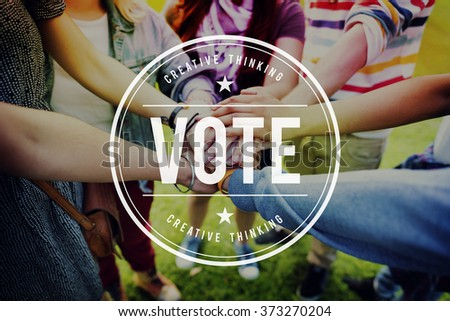 Vote Voter Voting Polling Poll Decision Campaign Concept - stock photo