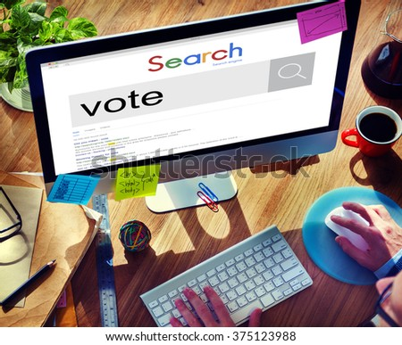 Vote Voter Voting Polling Poll Decision Campaign Concept - stock photo
