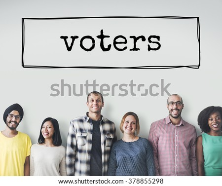 Vote Voters Election Option Word Box Concept - stock photo