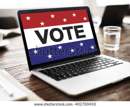 Vote Voting Election Politic Decision Democracy Concept - stock photo