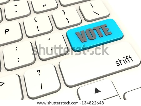 Vote with white keyboard