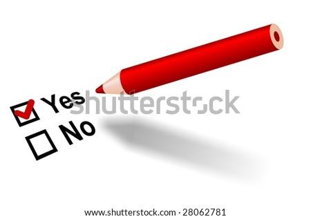 """Vote """"Yes""""! - stock photo"""