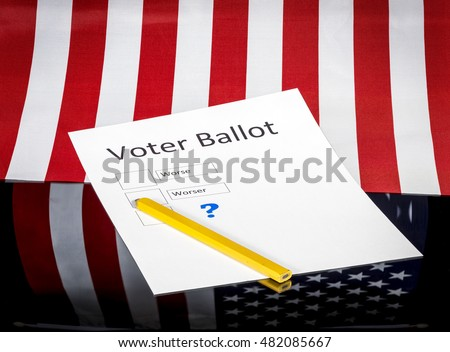 Voter ballot with desperate discouraging choices