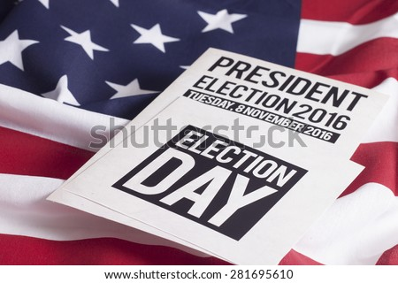 Voter Registration Application for presidential election 2016 - stock photo