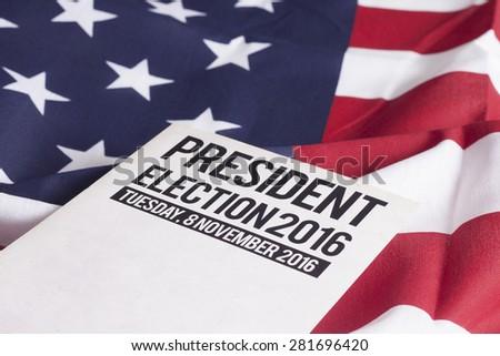 Voter Registration Application for presidential election 2016 - stock photo