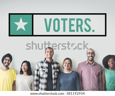 Voter Vote Voting Electing Poll Polling Choice Concept - stock photo