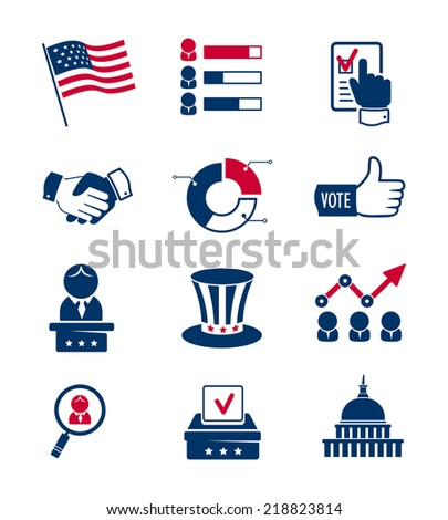 Voting and elections icons - stock photo