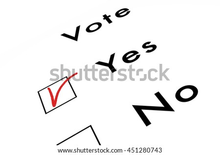 voting ballot, isolated on white, 3d illustration