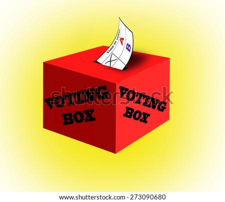 Voting box. - stock photo