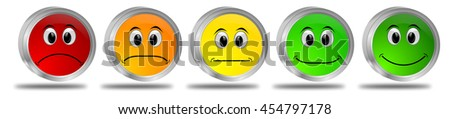 Voting Buttons - 3D illustration - stock photo