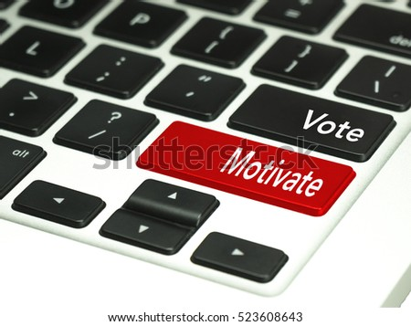 Voting concept on keyboard button.