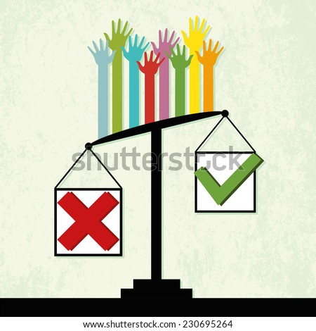 "Voting results on scales, people vote ""No"""