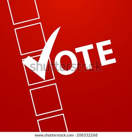Voting Symbol design - stock photo