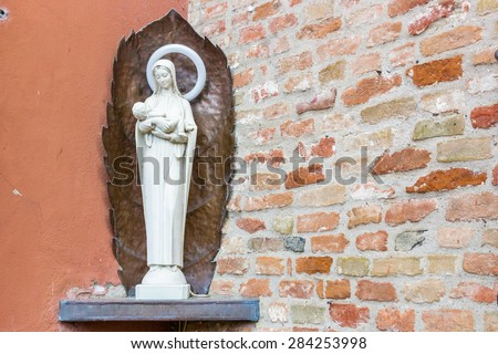 Votive monument to the Blessed Virgin Mary and Jesus Christ - stock photo