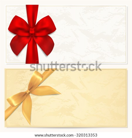 Voucher Gift Certificate Coupon Gift Money Stock Illustration