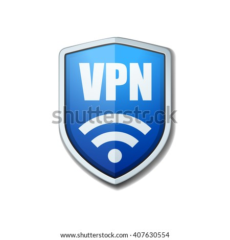VPN Safety Shield sign - stock photo