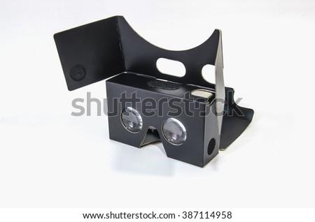 vr cardboard glasses - stock photo