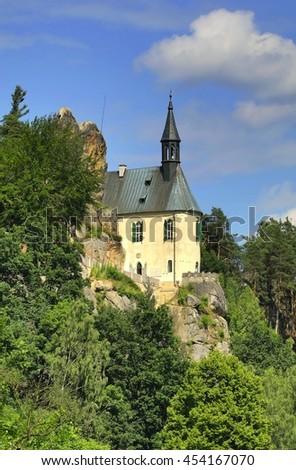 Vranov castle in Bohemia - stock photo